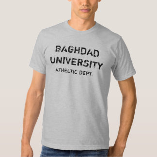 BAGHDAD UNIVERSITY, ATHELTIC DEPT. TEES