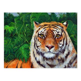 Bagheera the Tiger Postcard of Painting