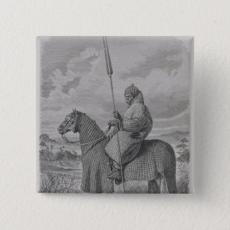 Baghirmi trooper in quilted armour 15 cm square badge