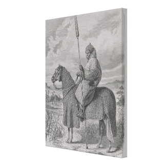 Baghirmi trooper in quilted armour canvas print