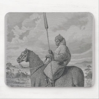 Baghirmi trooper in quilted armour mouse mat