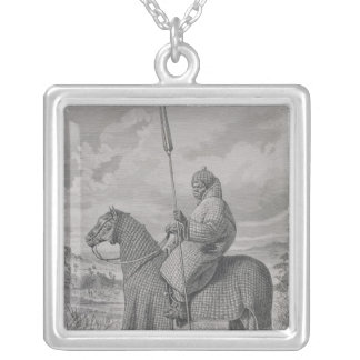 Baghirmi trooper in quilted armour silver plated necklace
