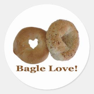 Bagle Love! Classic Round Sticker