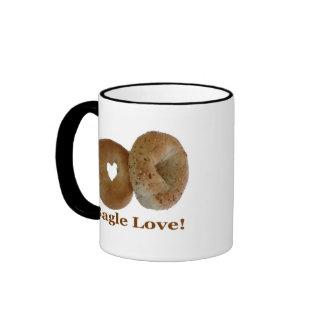 Bagle Love! Ringer Coffee Mug