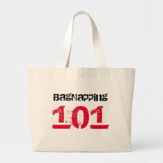 Bagnapper 101 Red & Black Text Jumbo Tote Bag