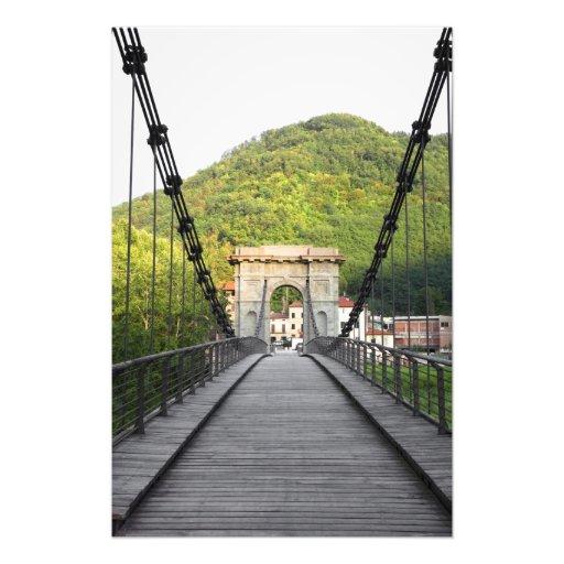Bagni di Lucca, Tuscany, Italy - An old bridge Photo Print