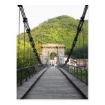 Bagni di Lucca, Tuscany, Italy - An old bridge Postcard
