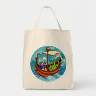 Bagpipe Boat Band grocery bag