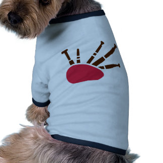 Bagpipe instrument doggie t-shirt