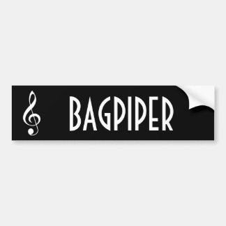 Bagpipe Music Band Bumper Sticker Gift