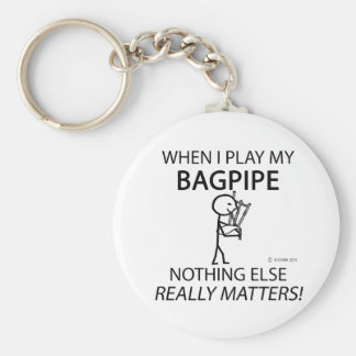 Bagpipe Nothing Else Matters Basic Round Button Key Ring