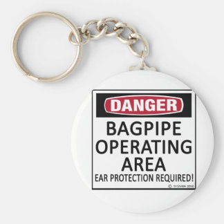Bagpipe Operating Area Basic Round Button Key Ring