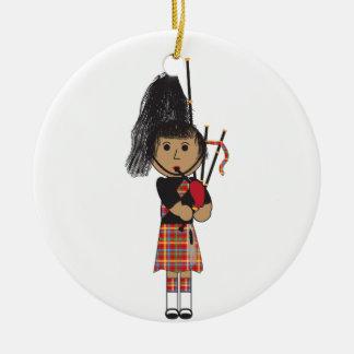 Bagpiper Christmas Ornament