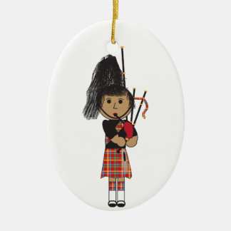 Bagpiper Christmas Ornament