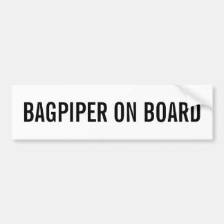 BAGPIPER ON BOARD Bumper Sticker