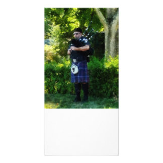 Bagpiper Customized Photo Card