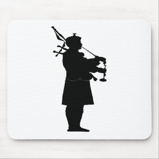 Bagpiper Silhouette Mouse Pad