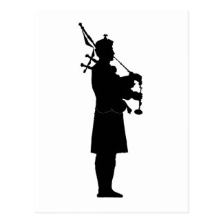 Bagpiper Silhouette Postcards
