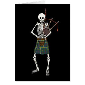 Bagpiper Skeleton Card