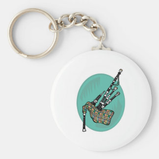 bagpipes basic round button key ring