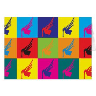 Bagpipes Pop Art Card