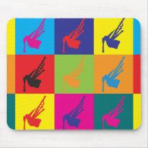 Bagpipes Pop Art Mouse Mat