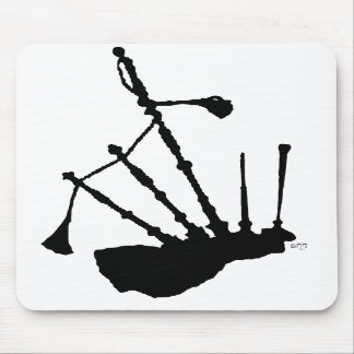 Bagpipes Silhouette Mouse Pad