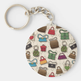 Bags Basic Round Button Key Ring