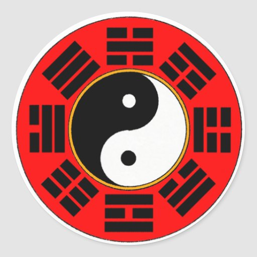 Bagua trigram round sticker