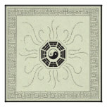 Bagua with Affirmations Poster