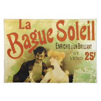 Bague Soleil Vintage French jewelry advertisement Place Mat