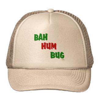 Bah Hum Bug Green Red Mesh Hat
