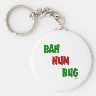 Bah Hum Bug Green Red Key Chain