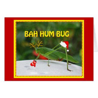 Bah Hum Bug Greeting Card