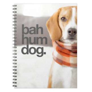 """Bah Hum Dog"" Beagle Notebook"