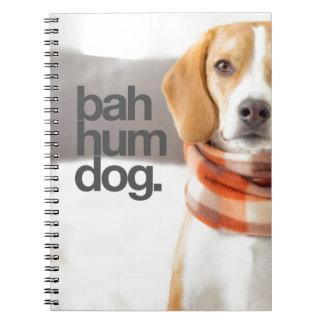 """""""Bah Hum Dog"""" Beagle Spiral Notebook"""