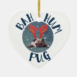 Bah Hum Pug Christmas Collection Christmas Ornament