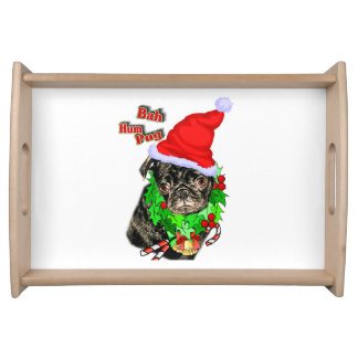 Bah Hum Pug Christmas Serving Platter