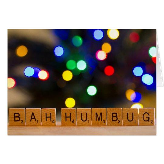 Bah Humbug Christmas Greeting Card
