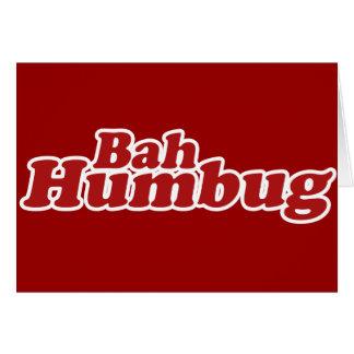Bah Humbug Christmas Scrooge Card