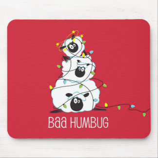 Bah Humbug Christmas Sheep Mouse Mat
