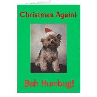 Bah Humbug  doggie tshirt Card