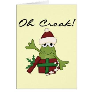 Bah Humbug Frog Christmas Tshirts and Gifts Card