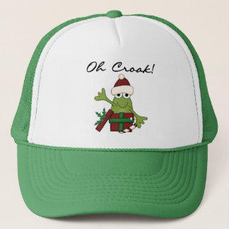 Bah Humbug Frog Christmas Tshirts and Gifts Trucker Hat