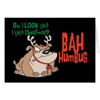 Bah Humbug Funny  Christmas Card