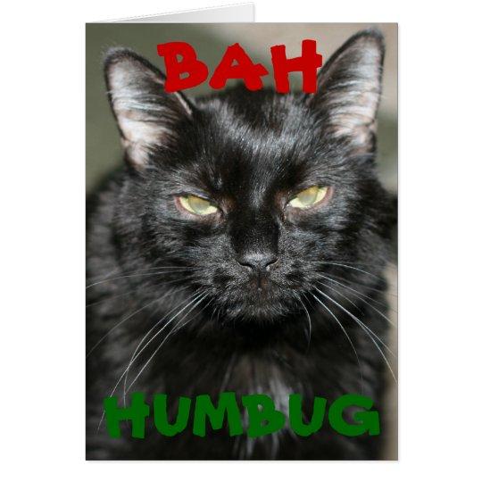 Bah Humbug Grumpy Cat Holiday Greeting Card