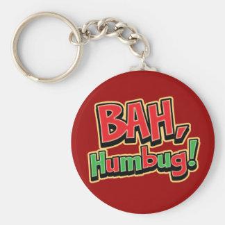 Bah Humbug Basic Round Button Key Ring