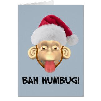 Bah Humbug Monkey card
