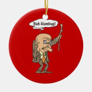 Bah Humbug Old Man Christmas Ornament