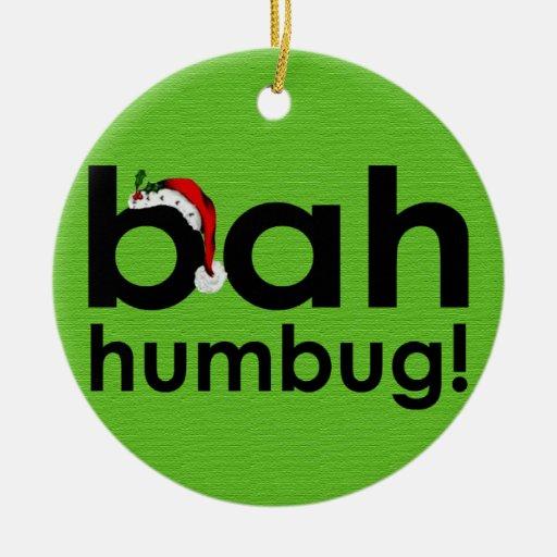 Bah humbug ornament zazzle for Bah humbug door decoration